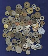 U.s. Collection Of 117 Mostly Vintage Transit Tokens, Group Lot