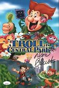 Don Bluth Signed Troll In Central Park 8x12 Photo Autograph Jsa Coa Cert