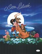 Don Bluth Signed All Dogs Go To Heaven 11x14 Photo Autograph Jsa Coa Cert
