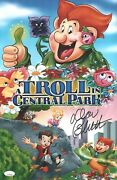 Don Bluth Signed A Troll In Central Park 11x17 Photo Autograph Jsa Coa Cert