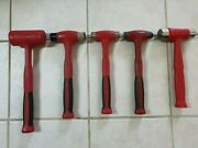 Snap-on 5pc Hammer Set Red Usa