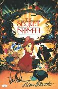 Don Bluth And Paul Williams Signed Secret Of Nimh 11x17 Photo Autograph Jsa Coa