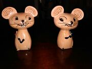 Vintage Set Of Holt Howard Squeaky Mouse Salt And Pepper Shakers