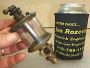 Powell Signal No. 2 Flat Glass Brass Oiler Old Gas Or Steam Engine Very Nice