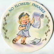 Vintage Blonde Girl Child Actress Shakespeare Circle Shape Pop Up Greeting Card