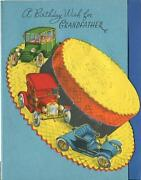 Vintage Straw Weave Hat Model Ford T Auto Automobiles Car Grandfather Card Print