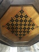 Antique Wooden Game Board Reversible