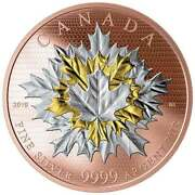 2019 Maple Leaves In Motion 50 5oz Pure Silver Proof Coin Canada Mintage 1000