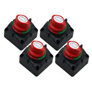 4x Dual Battery Selector Switch Disconnect For Marine Boat Rv Vehicle On-off