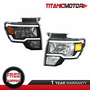Front Led Drl Headlights Headlamps Assembly For 2009-2014 Ford F-150 One Pair