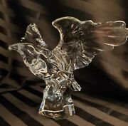 Baccarat American Eagle Crystal Glass Bird Flared Wings Art France 7 X 9.5