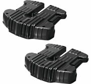 Rough Craft Rocker Box Covers Black Grooved Rc-610-000