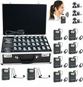Exmax Wireless Tour Guide/monitoring Audio System With 32-slot Charge Case For T