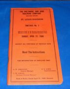 Baltimore And Ohio St. Louis Division Western Railroad Employee Timetable 1969