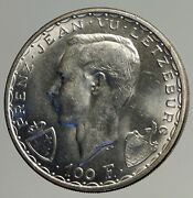 1946 Luxembourg Duchess Charlotte John The Blind Vintage Silver 100f Coin I93566