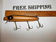Rare Heddon Vamp Glass Tack Eyes See Pictures For Condition Vintage Fishing Lure