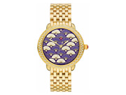 Serein Mid Fan Patterned White And Blue Diamond Dial Ladies Fashion Watch Mww21b00