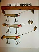 Heddon Dowagiac Spook Lure Vintage Lure Lot Of 3 Fishing Lures Tackle Box Find