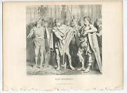 Antique King Clodwig Clovis I Frank Frankish Soldiers Halberd Weapons Old Print