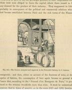 Antique Medieval Ages Brewer Brewery Beer Man Barrels Furnace Fire Small Print