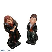 Vintage Royal Doulton Fagin And Artful Dodger Figurines Dickens Series 4.5andrdquo