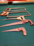 Lot Of 5 Vintage Old Hand Saws Craftsman Keystone And Unmarked