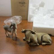 Willow Tree Hand-painted Sculpted Figures, Ox And Goat, 2-piece Set Nativity