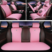 Universal Car Seat Covers Leather Automotive Truck Suv Interior Accessories 11pc