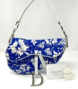 Christian Dior Surf Chick Saddle Bag With Documents And Tags