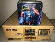 1992 Skybox Marvel Masterpieces Factory Sealed Case Tin Trading Card Set 6pc Lot