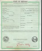 1959 Chevrolet Station Wagon Indiana Title Signed Historical Document
