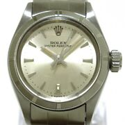 Auth Rolex Oyster Perpetual 6623 Silver 1542752 Womens Wrist Watch
