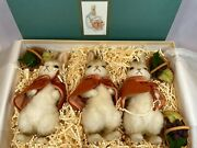 R. John Wright Flopsy Mopsy Cotton Tail Rabbits Dolls Limited Edition With Box