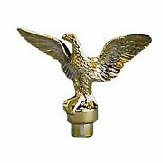 Eder Flag Eagle Top Ornament Plastic Brass Plate For A 3/4 Inch Diameter Pole