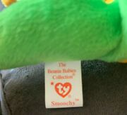 Ty Beanie Baby Smoochy The Frog Retired 1997 Tag Errors Rare Collectible