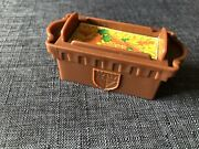 Fisher Price Little People Brown Crate Carrots Horse Food Castle Barn Farm Ranch