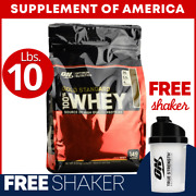 On Gold Standard 100 Whey 10 Lbs. Choose Flavor Free Shipping