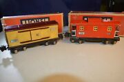 Lionel Pre-war 2655 Box Car And 2657 Red Caboose W/boxes