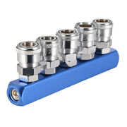 Female Thread 5 Way Quick Fitting Connect Coupler Compressor Air Hose Coupling