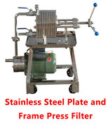 Ft-150 110v Stainless Steel Plate And Frame Press Filter Laboratory Filtration