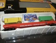 ✅k-line By Lionel Ringling Bros Barnum Bailey Scale Flat Car And 3 Circus Wagons