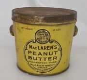 Maclarenandrsquos Peanut Butter Advertising Food Tin Pail Can - 83932