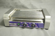 Hot Dog Grill Cooker Machine 220v Double Temperature Control Commercial 7 Roller