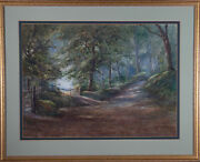George Henry Downing 1878-1940 - Signed Watercolour, Woodland Path