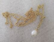New Trollbeads 14kt/18kt Gold Fantasy Necklace/freshwater Pearl 80cm/31.5 In