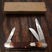 Camco Blackhawk Kb-5 Medium Stockman Knife Made In Usa By Camillus Vintage