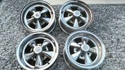 Cragar Ss Mag Wheels 14x6 And 14x7 Vintage Chevy Ford Dodge With Caps.