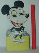 Mickey Mouse Giant Card Stock Mechanical Clicker Toy Spain 1930s Rare