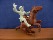 Vintage Marx Roy Rogers Mounted Waving Separate Saddle And Rein