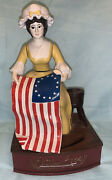 Betsy Ross Vintage Cast Iron Mechanical Coin Bank Hand Painted 165 Of 500 Works